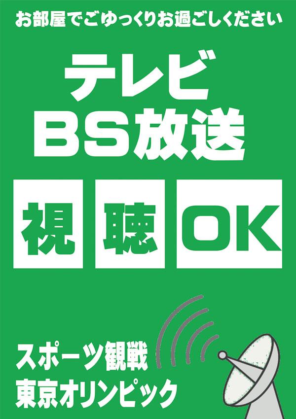 BS放送視聴OK!